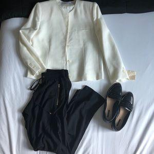 Vintage white smart blazer